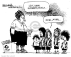 Cartoonist Mike Luckovich  Mike Luckovich's Editorial Cartoons 2009-01-26 Girl Scout cookie