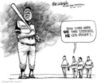 Cartoonist Mike Luckovich  Mike Luckovich's Editorial Cartoons 2009-02-13 Roger Clemens