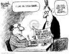 Cartoonist Mike Luckovich  Mike Luckovich's Editorial Cartoons 2009-03-25 red meat