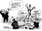 Cartoonist Mike Luckovich  Mike Luckovich's Editorial Cartoons 2009-04-16 demonstration