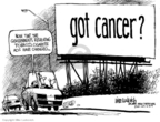Cartoonist Mike Luckovich  Mike Luckovich's Editorial Cartoons 2009-06-14 cancer