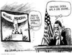 Cartoonist Mike Luckovich  Mike Luckovich's Editorial Cartoons 2009-07-08 Obama Biden