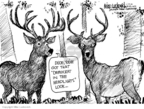 Cartoonist Mike Luckovich  Mike Luckovich's Editorial Cartoons 2010-01-27 wildlife