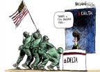 Cartoonist Mike Luckovich  Mike Luckovich's Editorial Cartoons 2011-06-09 flag