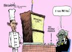 Cartoonist Mike Luckovich  Mike Luckovich's Editorial Cartoons 2011-07-12 vegetable