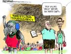 Cartoonist Mike Luckovich  Mike Luckovich's Editorial Cartoons 2011-09-02 coach