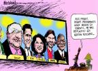 Cartoonist Mike Luckovich  Mike Luckovich's Editorial Cartoons 2011-09-28 2012 debate