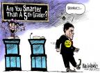 Cartoonist Mike Luckovich  Mike Luckovich's Editorial Cartoons 2011-10-16 2012 debate