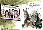 Cartoonist Mike Luckovich  Mike Luckovich's Editorial Cartoons 2011-10-19 2012 debate