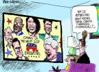 Cartoonist Mike Luckovich  Mike Luckovich's Editorial Cartoons 2011-11-09 2012 debate