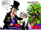 Cartoonist Mike Luckovich  Mike Luckovich's Editorial Cartoons 2011-12-25 card
