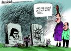 Cartoonist Mike Luckovich  Mike Luckovich's Editorial Cartoons 2012-01-08 die