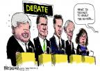 Cartoonist Mike Luckovich  Mike Luckovich's Editorial Cartoons 2012-01-20 2012 debate