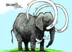 Cartoonist Mike Luckovich  Mike Luckovich's Editorial Cartoons 2012-01-24 tusk