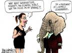 Cartoonist Mike Luckovich  Mike Luckovich's Editorial Cartoons 2012-02-23 poverty