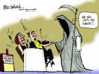 Cartoonist Mike Luckovich  Mike Luckovich's Editorial Cartoons 2012-03-14 cancer