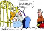 Cartoonist Mike Luckovich  Mike Luckovich's Editorial Cartoons 2012-07-08 heaven