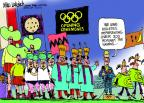 Cartoonist Mike Luckovich  Mike Luckovich's Editorial Cartoons 2012-07-10 2012 Olympics