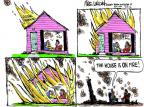 Cartoonist Mike Luckovich  Mike Luckovich's Editorial Cartoons 2012-07-12 climate