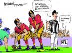 Cartoonist Mike Luckovich  Mike Luckovich's Editorial Cartoons 2012-09-09 penalty