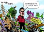 Cartoonist Mike Luckovich  Mike Luckovich's Editorial Cartoons 2012-09-13 election