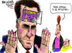 Cartoonist Mike Luckovich  Mike Luckovich's Editorial Cartoons 2012-09-18 election