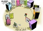 Cartoonist Mike Luckovich  Mike Luckovich's Editorial Cartoons 2012-10-11 banned substance