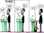 Cartoonist Mike Luckovich  Mike Luckovich's Editorial Cartoons 2012-10-16 Obama Biden