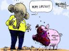 Cartoonist Mike Luckovich  Mike Luckovich's Editorial Cartoons 2012-12-14 tax increase