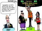 Cartoonist Mike Luckovich  Mike Luckovich's Editorial Cartoons 2013-02-13 Olympic medal