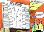 Cartoonist Mike Luckovich  Mike Luckovich's Editorial Cartoons 2013-03-08 March madness
