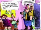 Cartoonist Mike Luckovich  Mike Luckovich's Editorial Cartoons 2013-04-14 gun