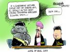 Cartoonist Mike Luckovich  Mike Luckovich's Editorial Cartoons 2013-10-04 North Korea