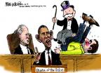 Cartoonist Mike Luckovich  Mike Luckovich's Editorial Cartoons 2014-01-27 Obama Biden