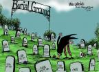 Cartoonist Mike Luckovich  Mike Luckovich's Editorial Cartoons 2014-01-31 gun