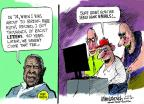 Cartoonist Mike Luckovich  Mike Luckovich's Editorial Cartoons 2014-04-17 Babe Ruth