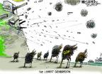 Cartoonist Mike Luckovich  Mike Luckovich's Editorial Cartoons 2014-06-05 climate change
