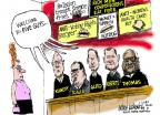 Cartoonist Mike Luckovich  Mike Luckovich's Editorial Cartoons 2014-07-09 religion science