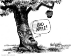 Cartoonist Mike Luckovich  Mike Luckovich's Editorial Cartoons 2005-09-29 apple