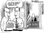 Cartoonist Mike Luckovich  Mike Luckovich's Editorial Cartoons 2005-10-28 indictment