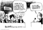 Cartoonist Mike Luckovich  Mike Luckovich's Editorial Cartoons 2005-11-01 abortion