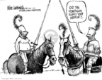 Cartoonist Mike Luckovich  Mike Luckovich's Editorial Cartoons 2006-01-11 military casualty