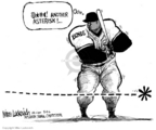 Cartoonist Mike Luckovich  Mike Luckovich's Editorial Cartoons 2006-03-09 banned substance