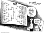 Cartoonist Mike Luckovich  Mike Luckovich's Editorial Cartoons 2006-03-17 March madness