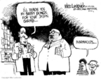Cartoonist Mike Luckovich  Mike Luckovich's Editorial Cartoons 2006-03-31 banned substance