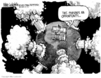 Cartoonist Mike Luckovich  Mike Luckovich's Editorial Cartoons 2006-08-02 North Korea