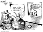 Cartoonist Mike Luckovich  Mike Luckovich's Editorial Cartoons 2006-10-26 fake