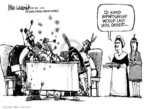 Cartoonist Mike Luckovich  Mike Luckovich's Editorial Cartoons 2006-11-14 bipartisanship
