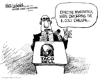 Cartoonist Mike Luckovich  Mike Luckovich's Editorial Cartoons 2006-12-08 food