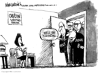 Cartoonist Mike Luckovich  Mike Luckovich's Editorial Cartoons 2007-04-19 abortion